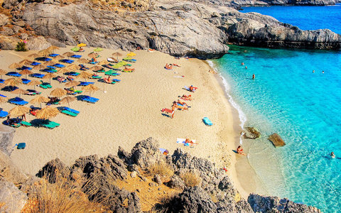 Greece crete beach