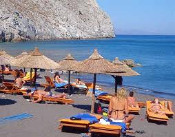 Greek Island Santorini blackBeach