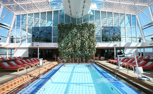 Celebrity Silhouette indoor pool