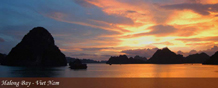 Vietnam Halong Bay Sunset
