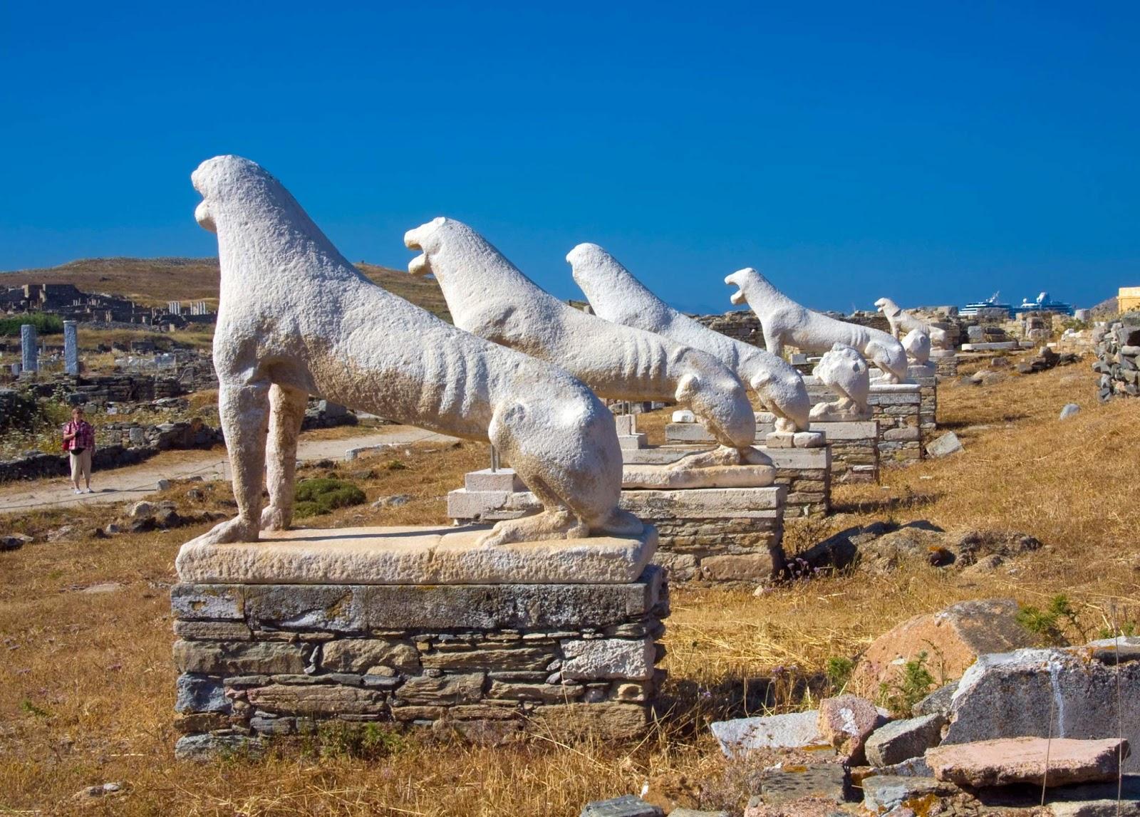 Delos Stone lions